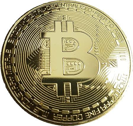 HS Bitcoin - Moneda de coleccionista con Revestimiento de Oro de ...