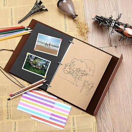 Scrapbook Albumzeeyuan Travel Leather Photo Albumworld Mapvintage