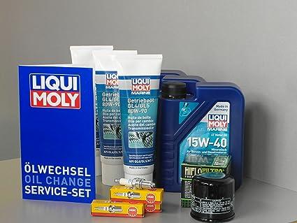 Mercury 40 EFI 3 cilindros con aceite y Bujía getriebeöl aceite Mantenimiento Set