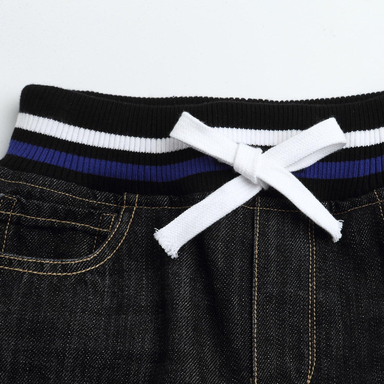 Leo&Lily Big boys'Husky Whole Rib Waist Fine Denim Black Jeans (16) by Leo&Lily (Image #5)