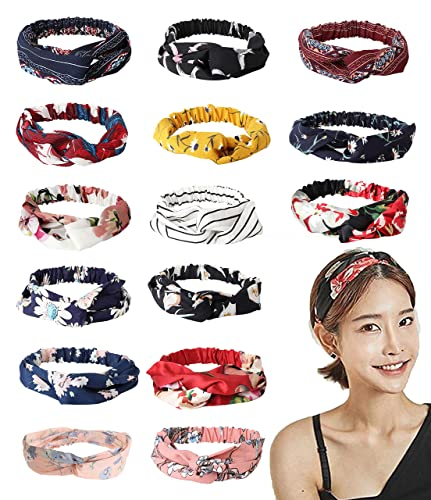 Amazon.com  LOYALLOOK 8-15Pack Headbands for Women Girls Boho ... 1ff92ecfbca