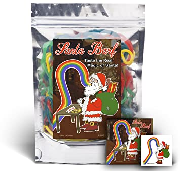 Santa Barf Rainbow Lace Licorice Funny Unique Christmas Stocking Stuffer Gag Gift For Teens