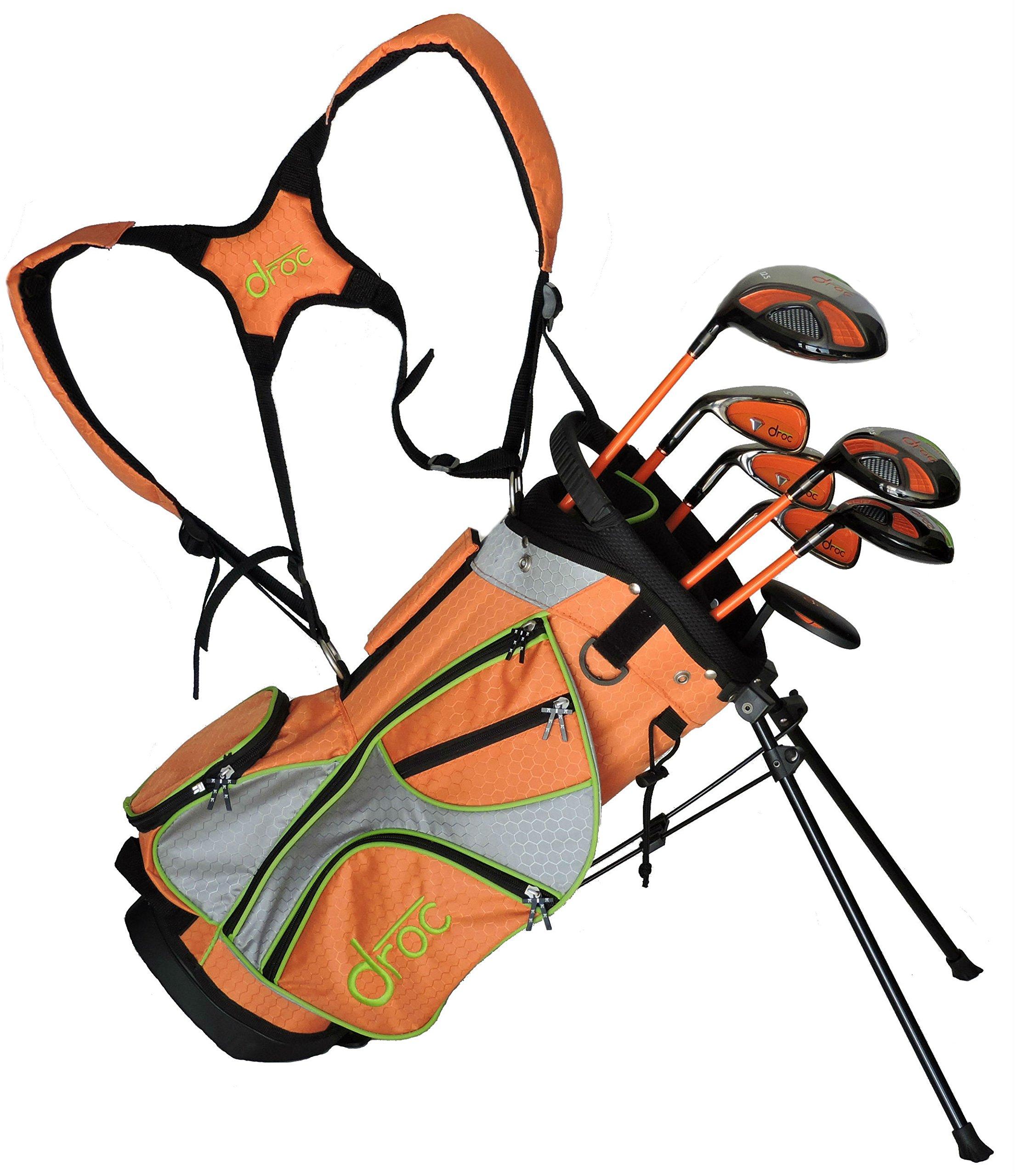 droc - Mica Left Handed Series 7 Pieces Golf Club Set & Golf Bag Ages 3-6 Left Handed (Titanium, Regular) by droc (Image #1)