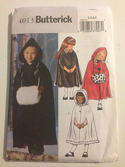 Amazon 4013 Butterick Girls Cape Muff And Headband Sewing Pattern