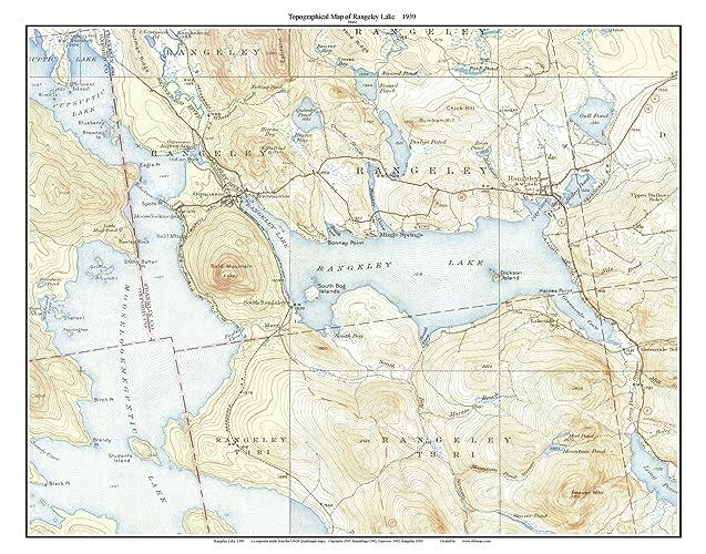 Amazon Com Rangeley Lake 1939 Old Topographic Map Usgs Custom