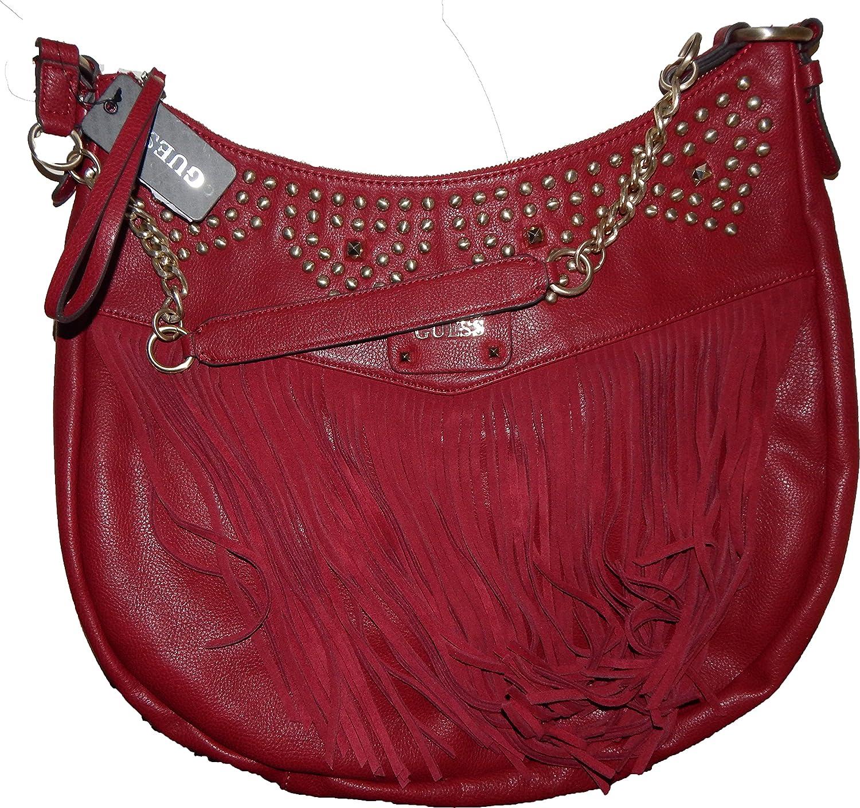 Guess Tasche Rot mit Fransen und Nieten