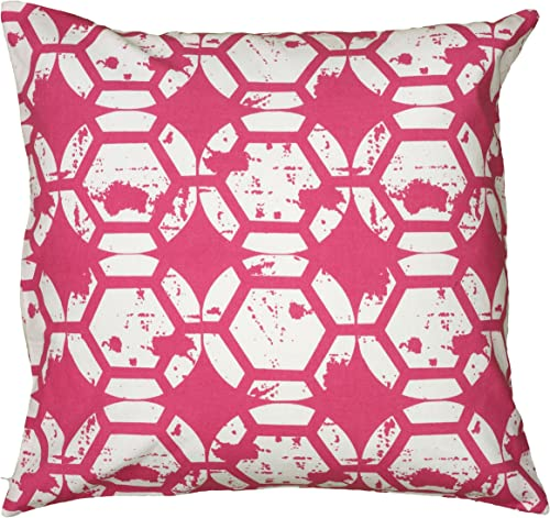 Rizzy Home T06143 Decorative Pillow, 20 X20 , Pink
