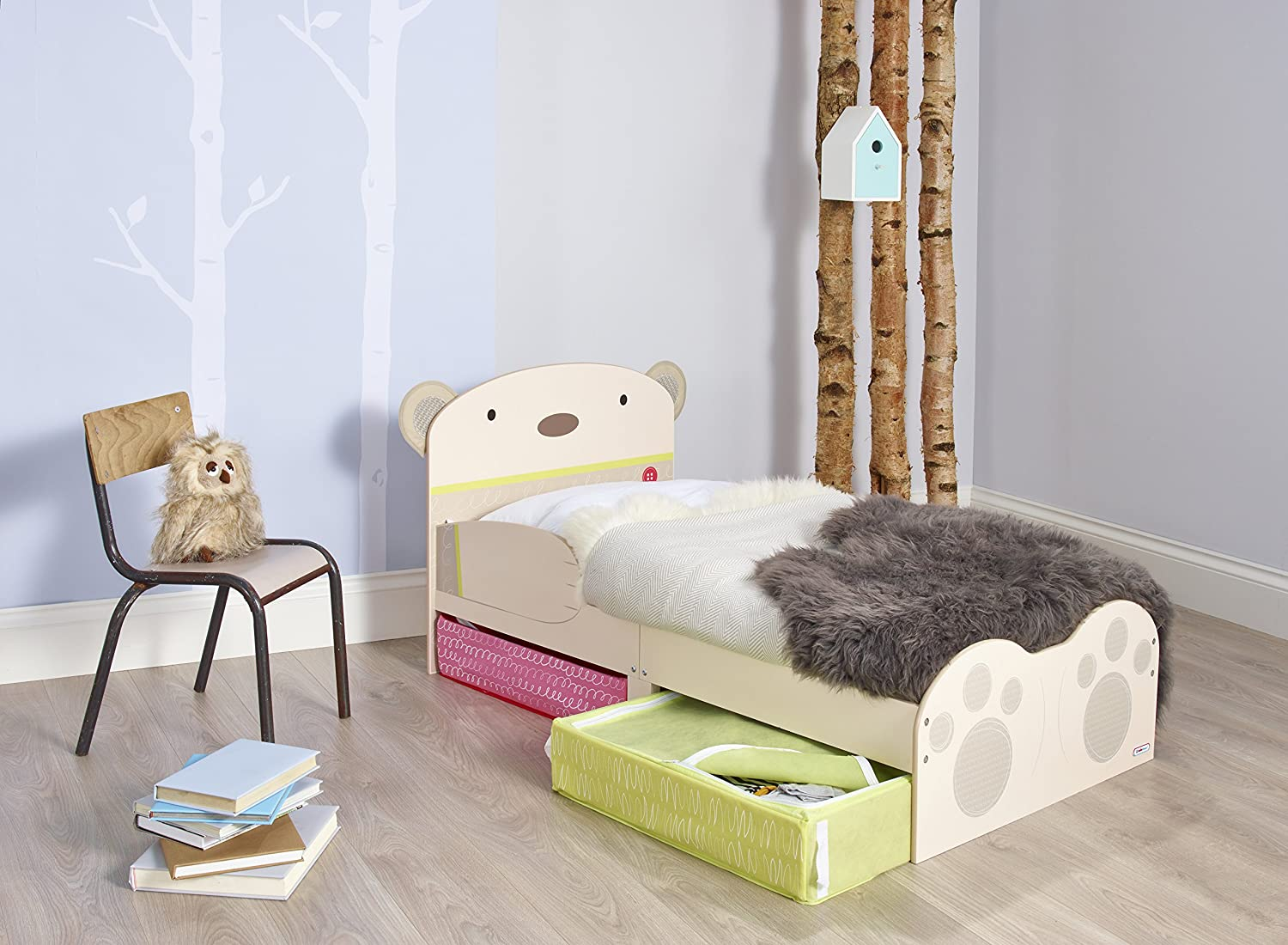 child with drawers bed storage toddler