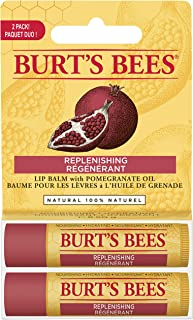 product image for Burt's Bees 100% Natural Moisturizing Lip Balm, Pomegranate, 2 Tubes