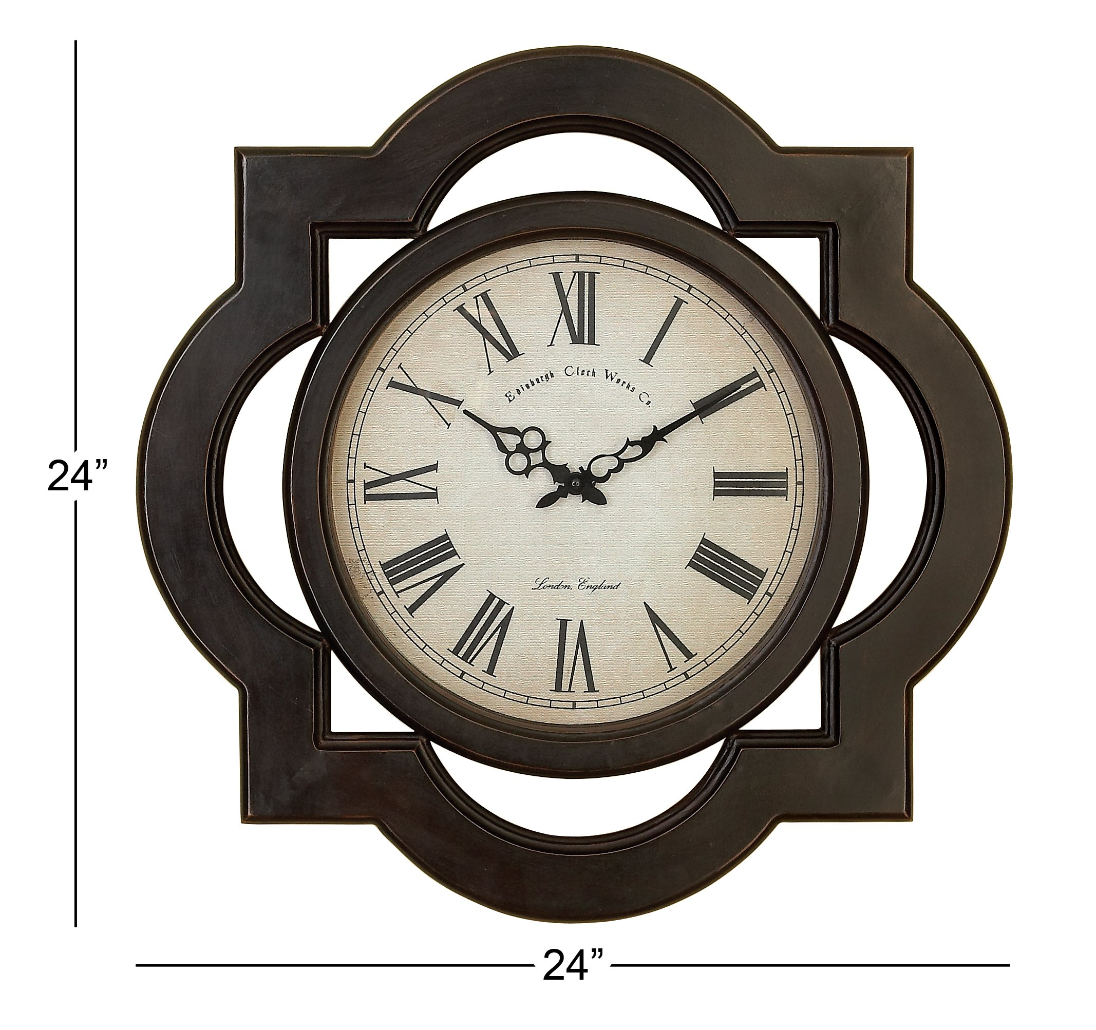 Deco 79 81667 Wood Wall Clock Uniquely Scalloped