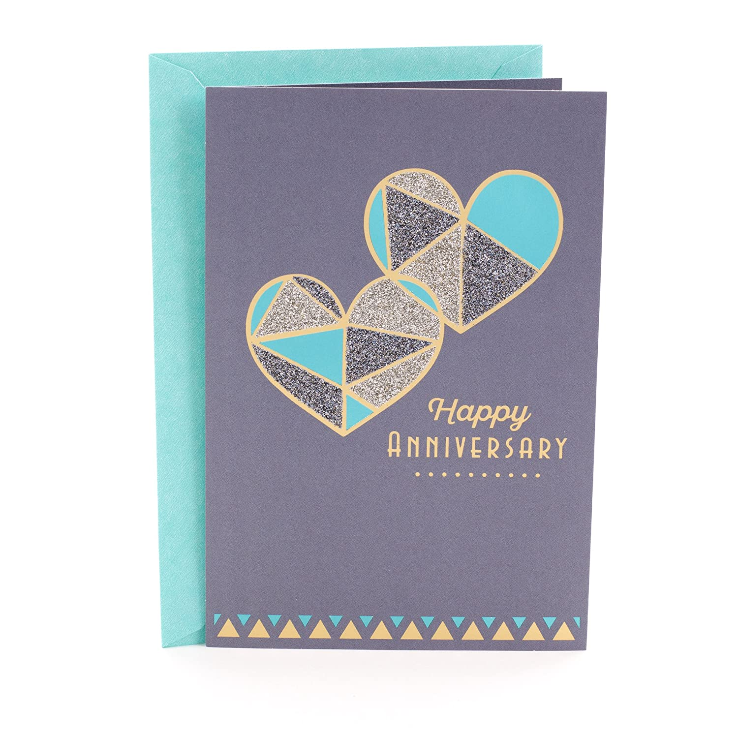 Amazon Hallmark Anniversary Greeting Card Two Hearts Office