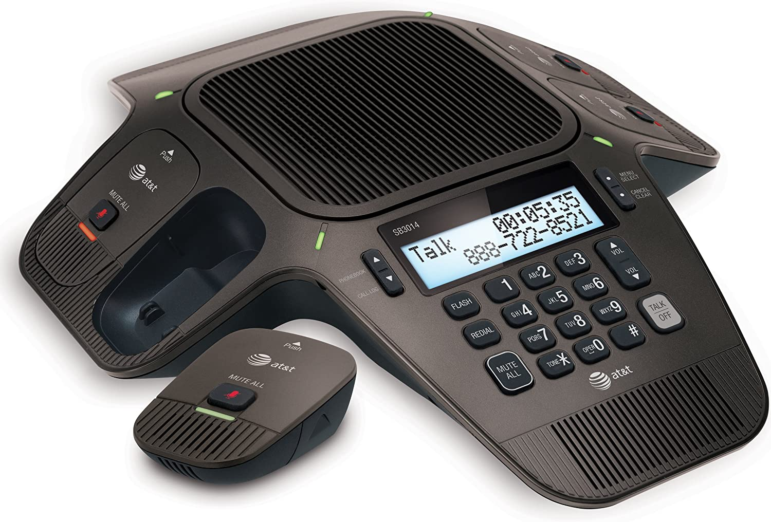 AT&T SB3014 DECT 6.0 Conference Phone with Four Wireless Mics