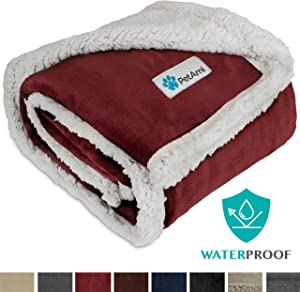 PetAmi Waterproof Dog Blanket for Medium Dogs, Puppies, Small Cats | Soft Sherpa Fleece Pet Blanket Throw for Sofa, Couch | Thick Durable Pet Bed Cover, Floor Mat 30 x 40 inches