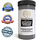 Activated Charcoal Powder, Food Grade, For Detoxification,Teeth Whitening, Digestive System,Poison Adsorption, Helps with Hangover, Beauty Face Mask, Large Jar, 10 oz.