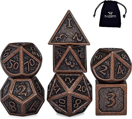 7//14 pcs D/&D Dungeons /& Dragons Creative RPG Cthulhu Metal Dice DND UK Seller