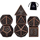 HEIMDALLR DND Dice Set 7 PCS - Metal Dungeons and Dragons Polyhedral Dice Set with D&D Dice Bag for RPG Gaming…