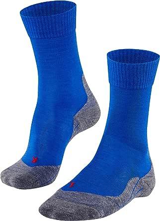 FALKE Trekkingsokken TK5 scheerwol heren zwart grijs vele andere kleuren ultradunne versterkte wandelsokken zonder patroon met lichte bekleding dun lang om te wandelen 1 paar