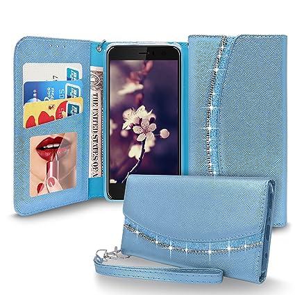 Caler Carcasa Compatible con iPhone 8 Plus//7 Plus Espejo Funda Inteligente Cartera Flip Silicona Transparente Funda de Piel Bumper Folio Protector Cobertura Espejo Soporte Shell