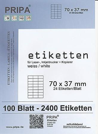 Kores Universal Etiketten weiß 70 x 36 mm 100 Blatt 2400 Etiketten Labels Druck