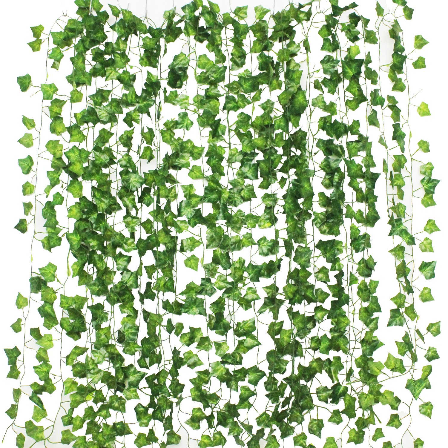 GPARK 12Pack / Each 82 inch , Artificial Ivy Garland Fake Plants , Green For Wedding Party Garden Outdoor Greenery Wall Decoration by GPARK