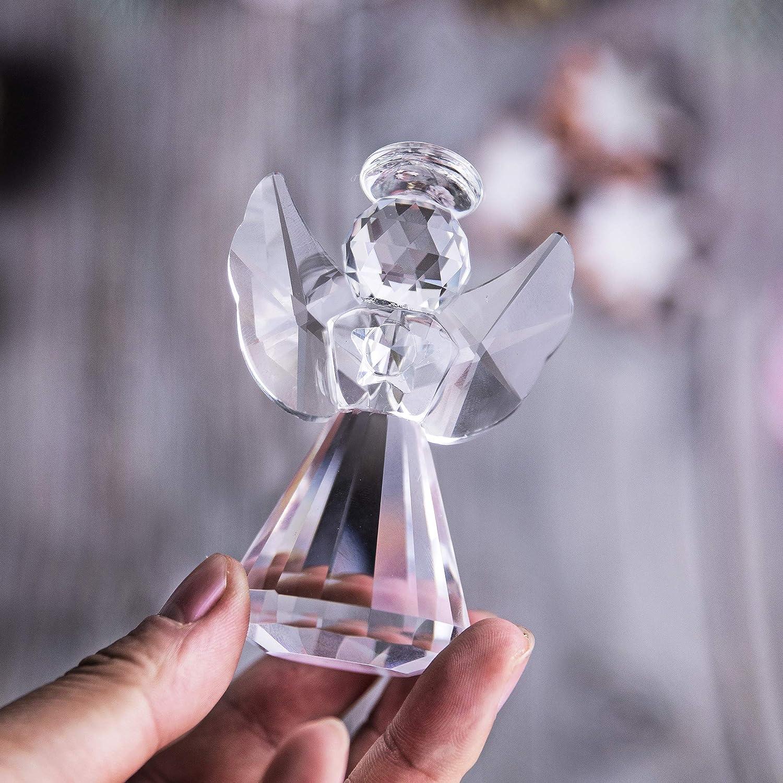 CLISPEED Cristal Cristal /Ángel Estatuas de Bolsillo Figuras /Ángel Adornos Colgantes