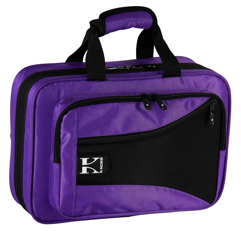 Kaces KBFP-CL3 Lightweight Hard-shell Clarinet Case, Purple KMC Music Inc