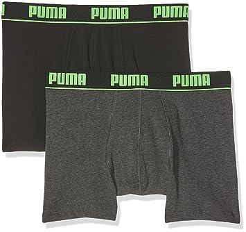 Puma Herren Basic Boxer New Waistband 2P Unterhose, Black/Grey, S