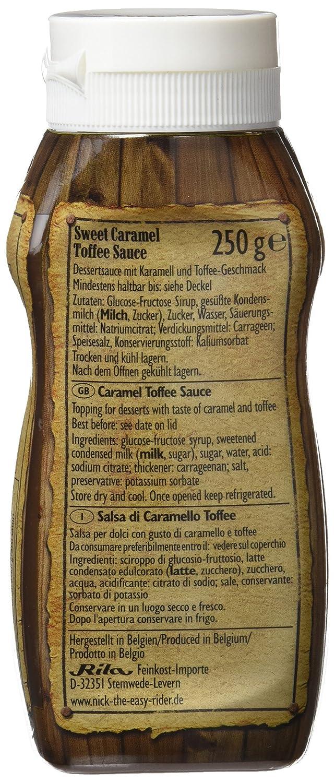 Nick Salsa de Caramelo Toffee Dulce - Paquete de 10 x 250 gr - Total: 2500 gr: Amazon.es: Alimentación y bebidas