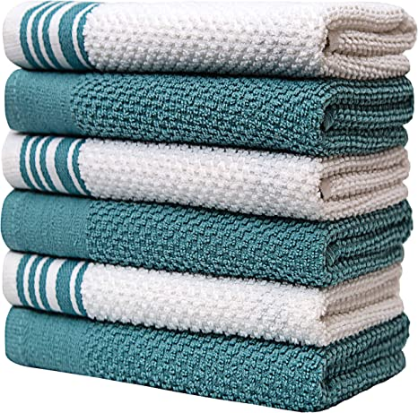 "– Large Cotton Kitchen Hand Towe Premium Kitchen Towels 16""x 28"", 6 Pack"
