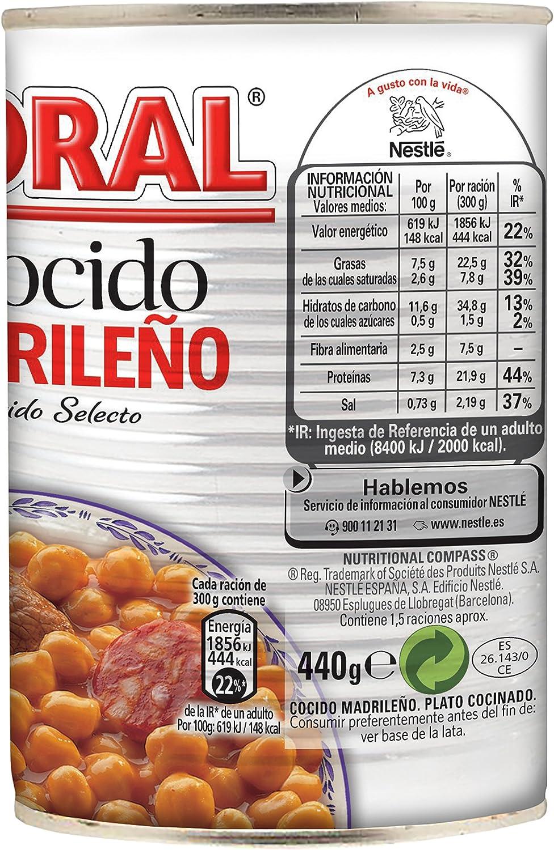 LITORAL Cocido Madrileño, Plato Preparado Sin Gluten - 400 gr: Amazon.es: Alimentación y bebidas