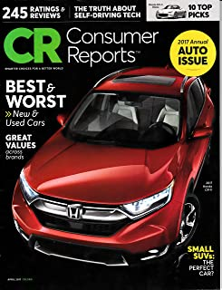 consumer reports new car buying guide 2017 editors of consumer rh amazon com consumer buyers guide cars consumer reports buying guide cars
