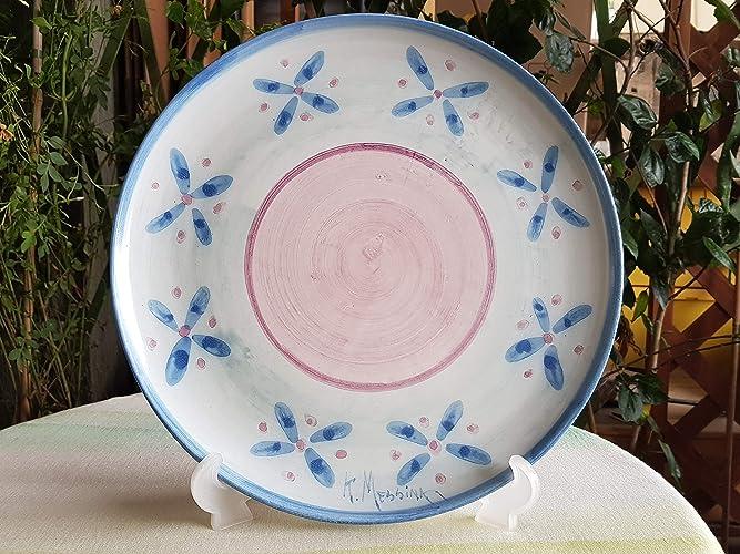 Piatto panettone in ceramica siciliana fatto a mano. le ceramiche di