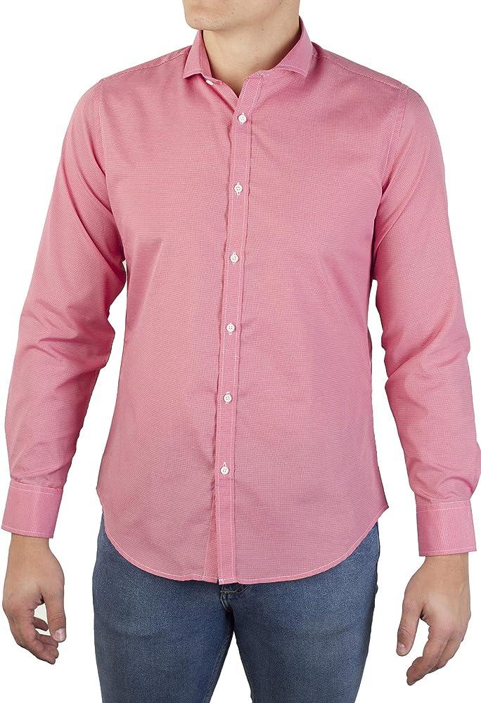 0062Voray Ga Camisa de Sport Hombre Micro-Dibujo con Cuello Italiano (0062-01, 7): Amazon.es: Ropa y accesorios