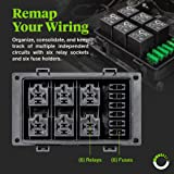 12V Auto Waterproof Fuse Relay Box Block [6 Bosch