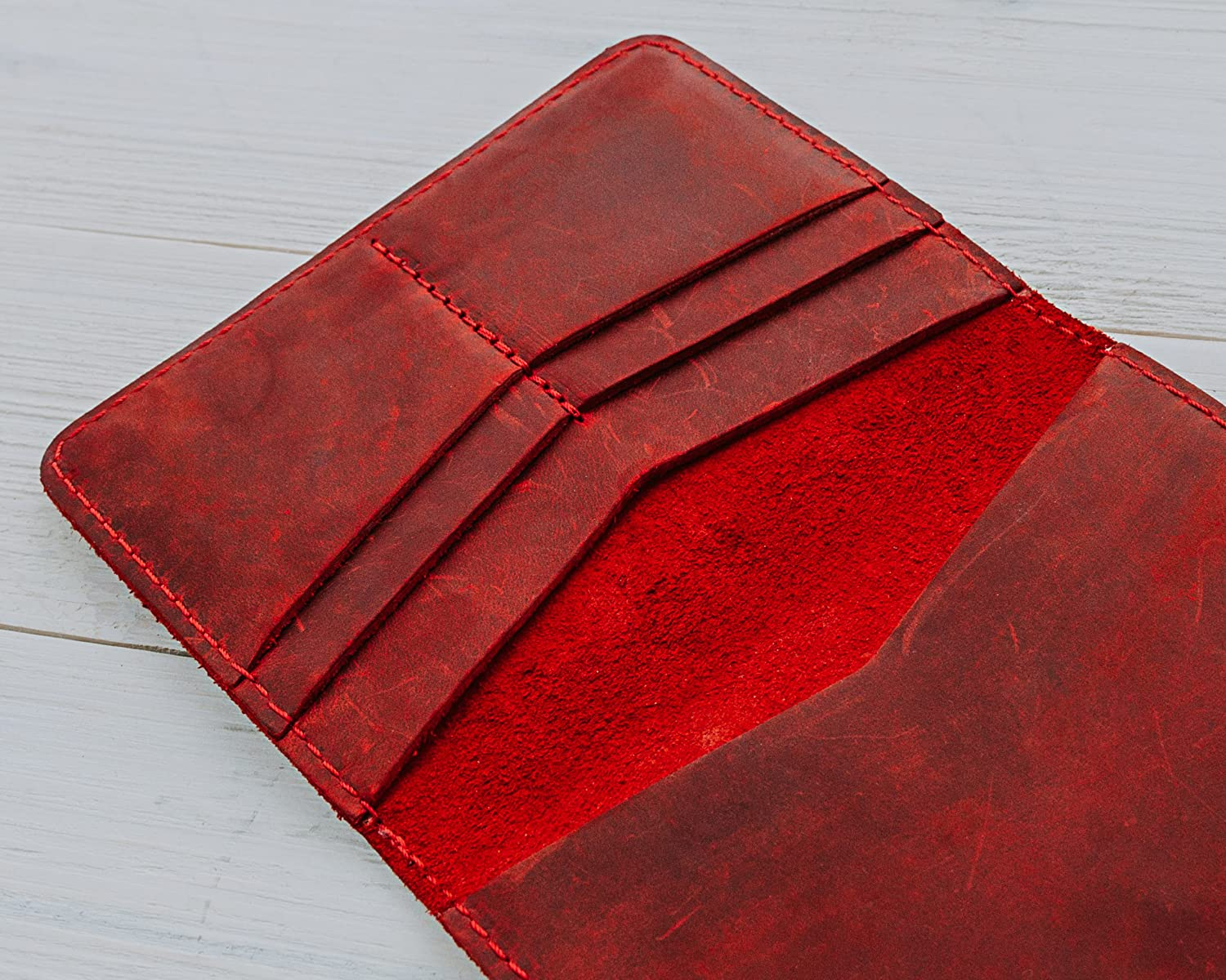 Rustic Passport Cover Distressed Leather Travel Wallet Pegai Passport Wallet Pike Rose Red Handcrafted Soft Leather Passport Holder