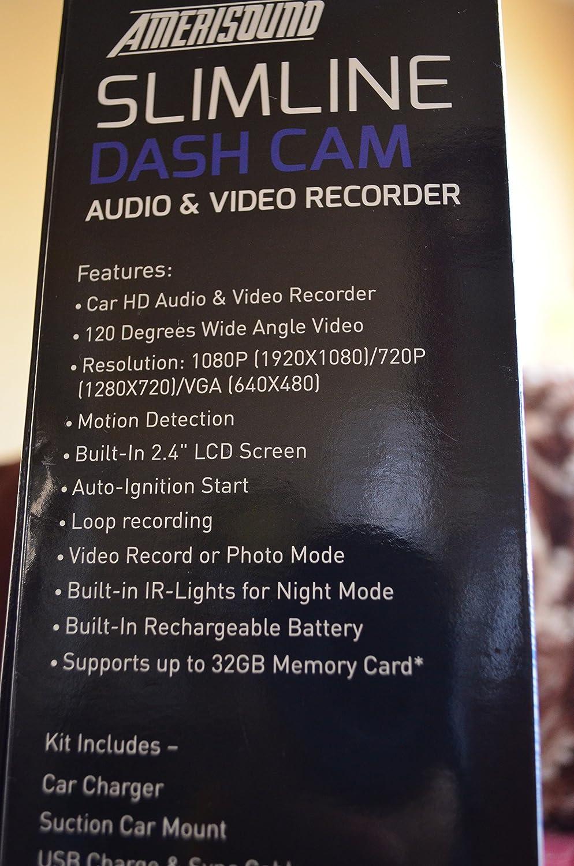 Slimline Dash Cam Audio /& Video Recorder