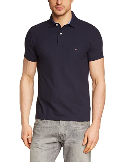 Tommy Hilfiger Men's Performance Slim Fit Short Sleeve Polo Shirt:  Amazon.co.uk: Clothing