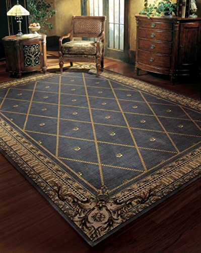 Nourison Ashton House Blue Runner Area Rug, 2-Feet 3-Inches by 8-Feet 2 3 x 8