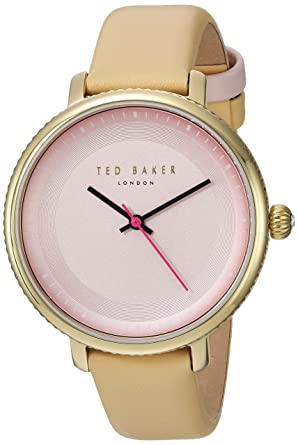 3ec4d1a3815 Ted Baker Women s ISLA Stainless Steel Japanese-Quartz Watch with Leather  Strap