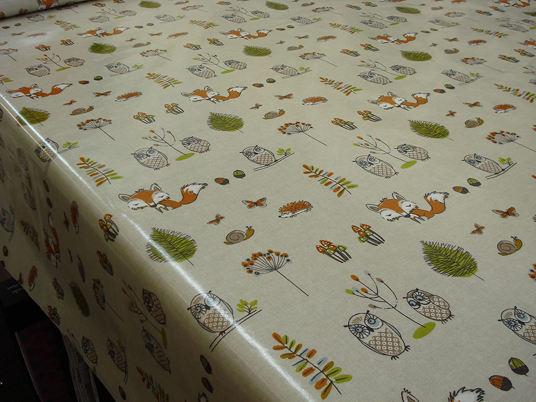 Amazon.com: FRYETTu0027S FABRICS WOODLAND FOX NEW PVC/VINYL/OILCLOTH TABLECLOTH:  Kitchen U0026 Dining