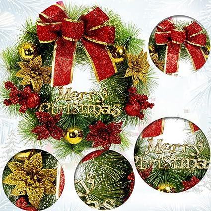 Amazon.com: Christmas Wreaths For Front Door Merry Christmas Wreath ...