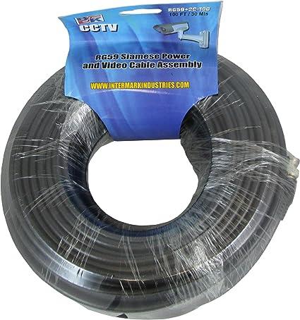 Blast King RG59+2C 50B 50-Feet Black Siamese Coaxial Cable