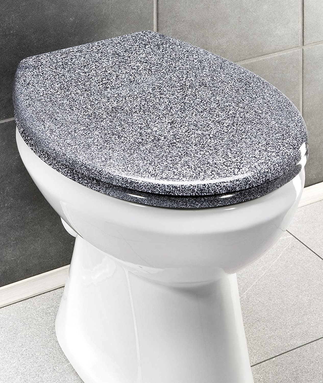 37.6 x 45.2 cm Etilene vinil acetato Wenko 18394100 Seduta WC Premium Ottana Easy Close Bianco fissaggio igienico in acciaio inox Fix-Clip antibatterico Bianco chiusura ammortizzata