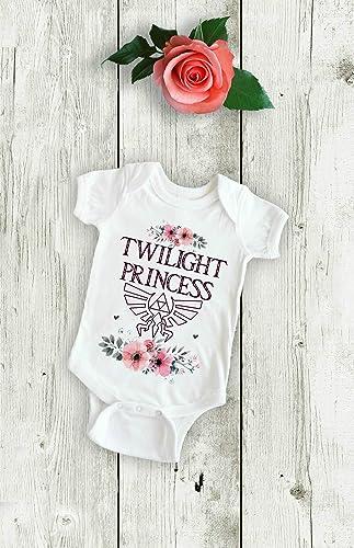 00a8ed8ac Amazon.com: Pretty Twilight Princess Zelda Graphic Baby Bodysuit Onesie  Toddler Kids Tshirt Tee Girly Nerd Gamer Mom and Dad Shower Gift: Handmade