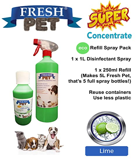 Trade Chemicals Fresh Pet - Limpiador desinfectante de caseta de 1 l + 250 ml