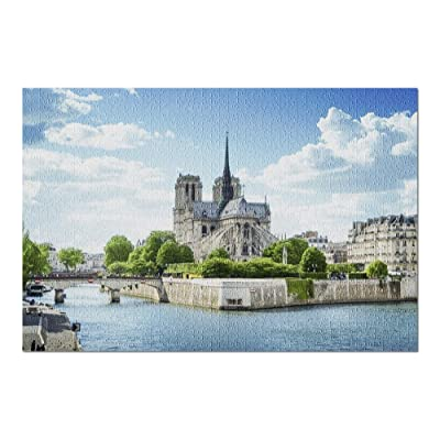 Notre Dame de Paris, France 9003306 (Premium 1000 Piece Jigsaw Puzzle for Adults, 20x30, Made in USA!): Toys & Games