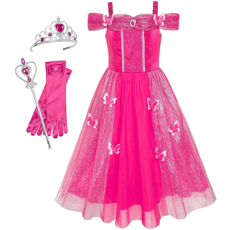 Sunny Fashion DRESS ガールズ 7 Pink Set Floor Length B07KY2WSVT