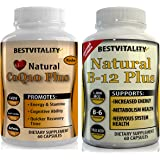 BestVitality Energy Booster Amazing Vegan Bundle! 100% Natural Coq10 And B Complex. Two of Our Best Selling Products for the Price of One - Made in USA