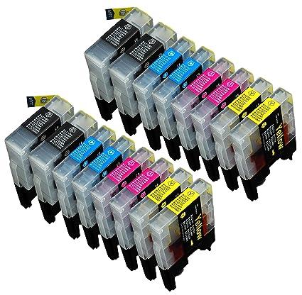 16 Multipack de alta capacidad Brother LC1240 , LC1280 Cartuchos ...