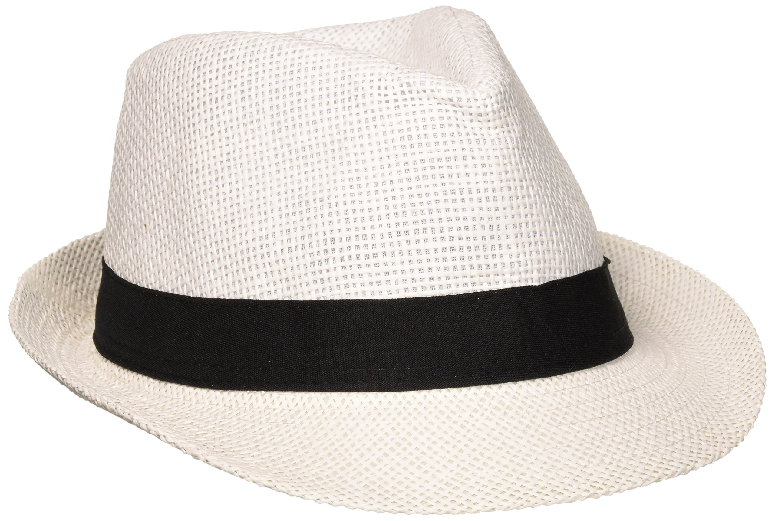Amscan White Party Fedora with Black Band | 8 Ct.